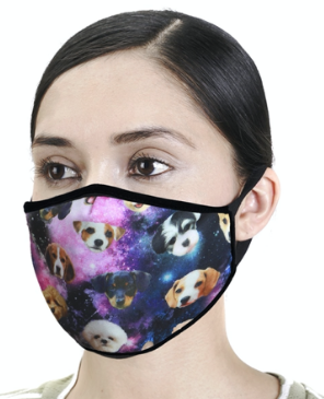 Designer Dogs Print Face Mask