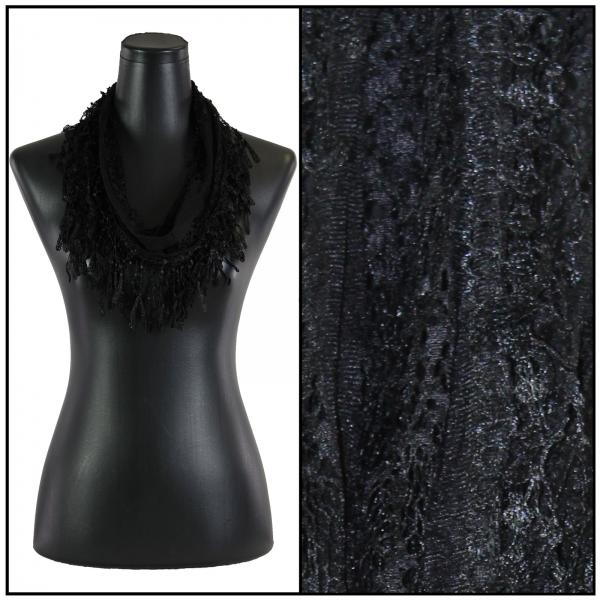 Lace Victorian Infinity Scarf-BLACK