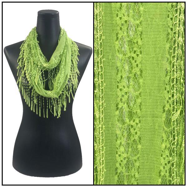 Lace Victorian Infiniti Scarf- Lime Green