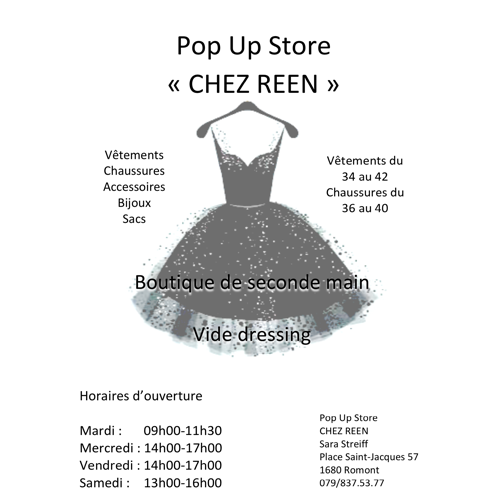 Pop Up Store Chez Reen