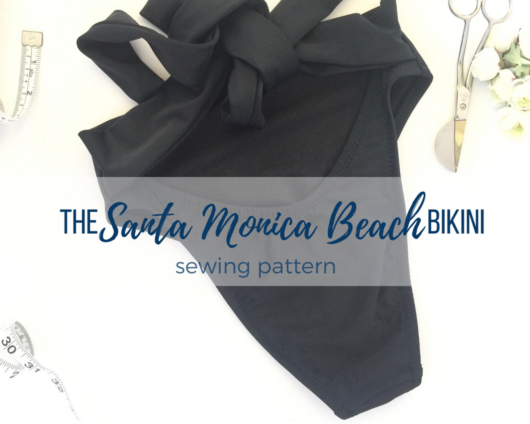 The Santa Monica Beach Bikini Bottom Pattern