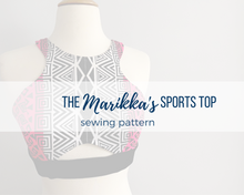 Load image into Gallery viewer, Marikka's Sports Top Sewing Pattern