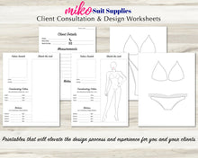 Load image into Gallery viewer, Designer Pack, Client Consultation Forms, Bikini and Figure Bodybuilder Croquis, Flat templates, Instant Download