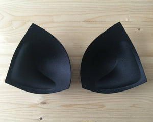 Triangle Push Up Inserts for Swimwear, Bras, Competition Bikinis and Figure Suits, One pair