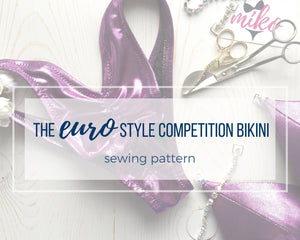 "Wellness Division ""Euro"" Style Competition Bikini Sewing Pattern"