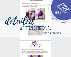 PATTERN BUNDLE: Molded Bra Cup Patterns, Includes beginner and advanced patterns