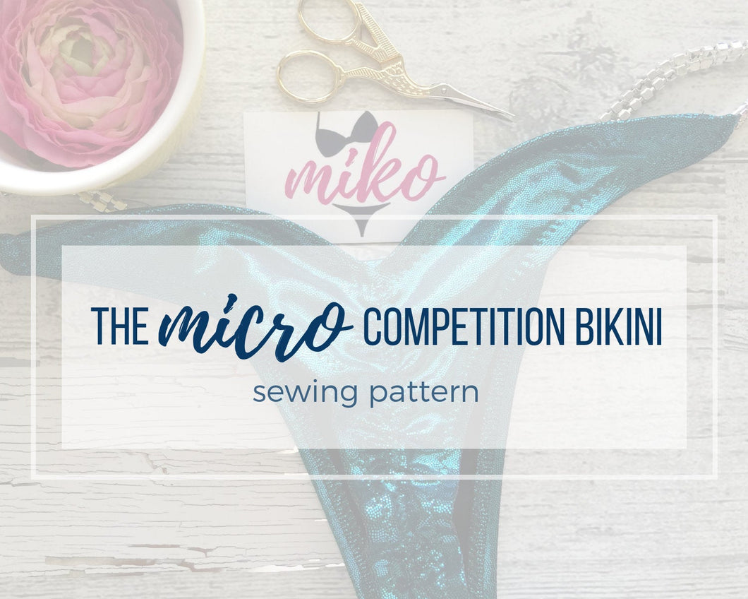 Micro Competition Bikini Sewing Pattern