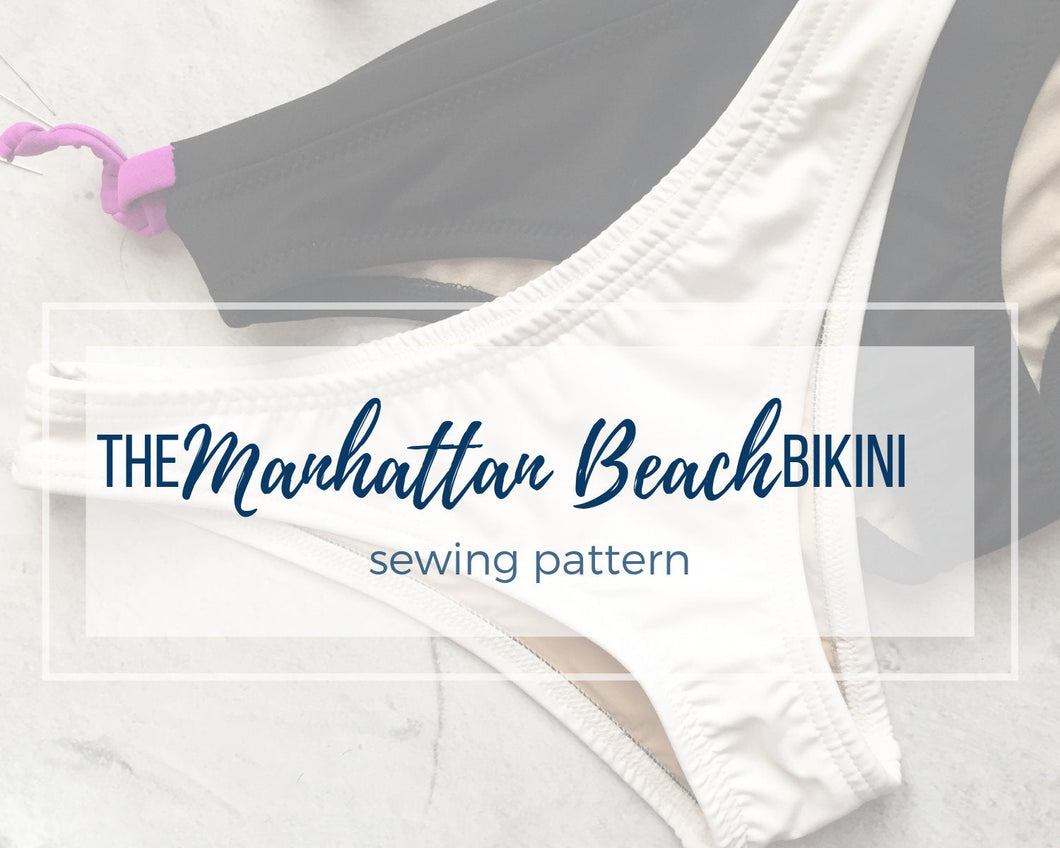 The Manhattan Beach Bikini Bottoms, Athletic Swim Bikini Bottoms PDF Sewing Pattern