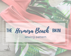 The Hermosa Beach Bikini Bottoms Pattern, Athletic Swim Bikini Bottoms Pattern