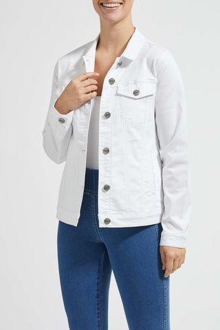 Laurie Denim Jacket in White