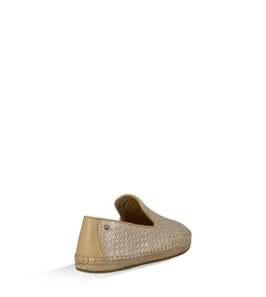 Ugg Sandrinne Metallic Espadrille in Soft Gold