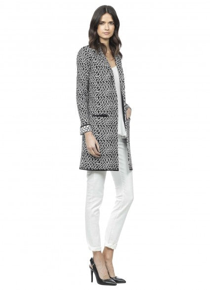 Claudia Strater Jacquard knit cardigan in Black & White