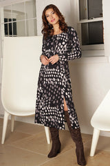 Pomodoro Grey Spot Dress