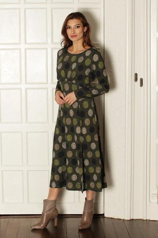 Pomodoro Green Spot Dress