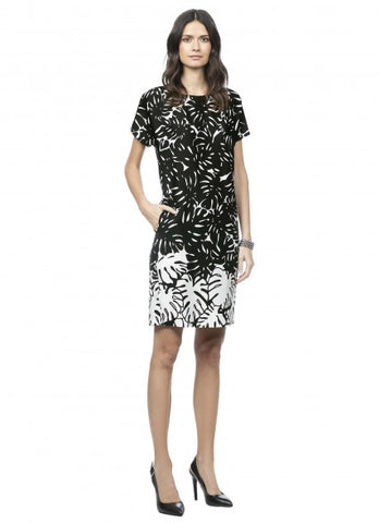 Claudia Strater Shift Dress in Black & White Print