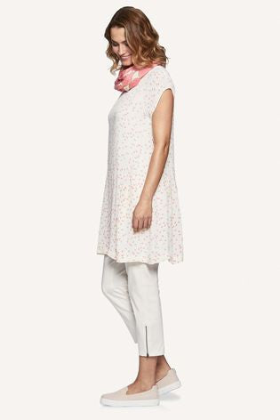 Masai Haidee Fitted Tunic in Lychee and Off-White and Padme Trousers
