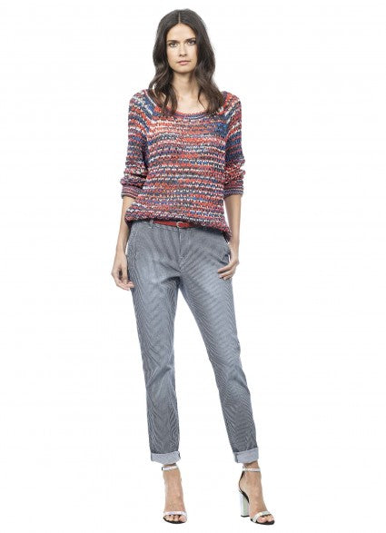 Claudia Strater Navy & White stripped jeans