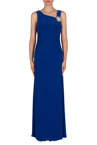 Joseph Ribkoff Long Dress in Azure Blue