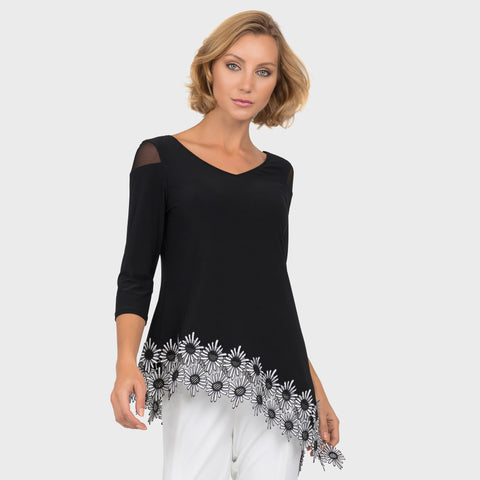 Joseph Ribkoff Black & White Top