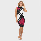Joseph Ribkoff Dress in Black/Multi Print