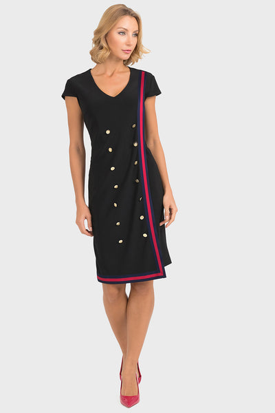 Joseph Ribkoff Dress with Gold Buttons