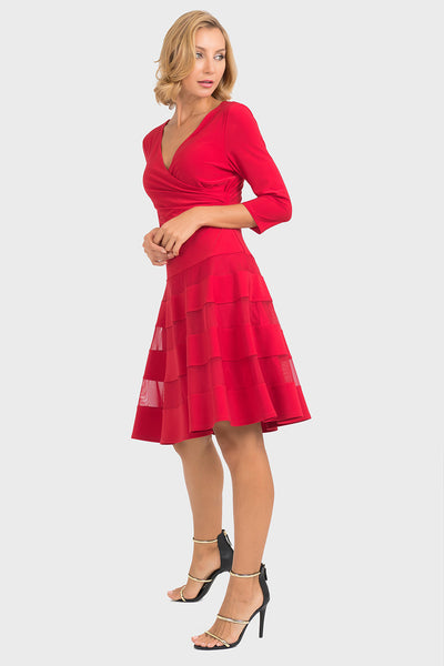 Joseph Ribkoff Dress in Lipstick Red