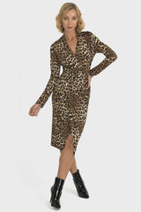 Joseph Ribkoff Leopard Print Dress