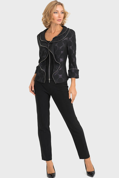 Joseph Ribkoff Black and Silver Jacket