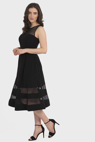 Joseph Ribkoff Black Fit &  Flare Dress