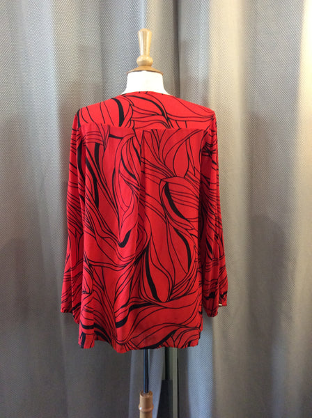 Doris Streich Red & Black Top
