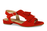 Lisa Kay Marie Suede Sandals in Red