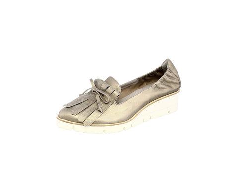 Kennel & Schmenger Doro Slip On Wedge Pumps in Pewter Metallic