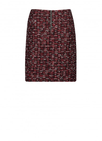 Claudia Strater Tweed A-line Skirt in Red Print