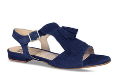 Lisa Kay Marie Suede Sandals in Navy