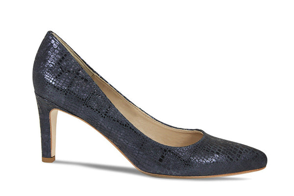 Lisa Kay Zee Heel in Navy Snake