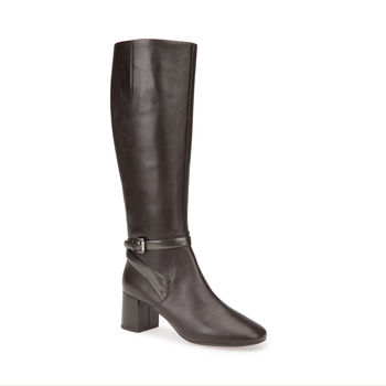 Geox Audalies Knee High Boot in Chestnut