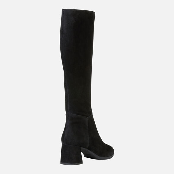 Geox Carlinda Long Boot in Black