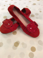 Kennel & Schmenger red ballet pump