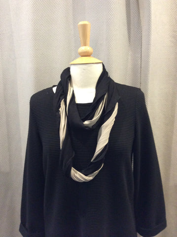 Doris Streich Black & Beige Snood Scarf