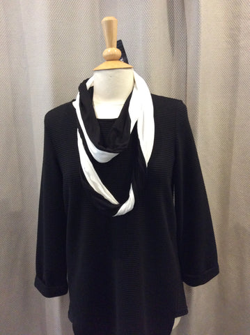 Doris Streich Black & White Snood Scarf