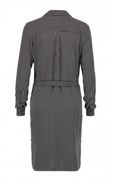 Claudia Strater Black and White Striped Shirt Dress (B4)