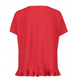 Claudia Strater Oversize Top with Flared Hem in Red
