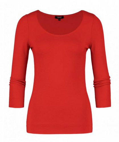Claudia Strater Base Top with 3/4 Sleeves in Red
