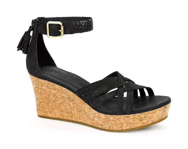 Ugg Lillie Wedge Sandal in Black