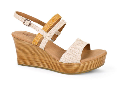 Ugg Lira Mar Wedge Sandal in Pearl