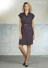 Tinta Style Stripped Shirt Dress