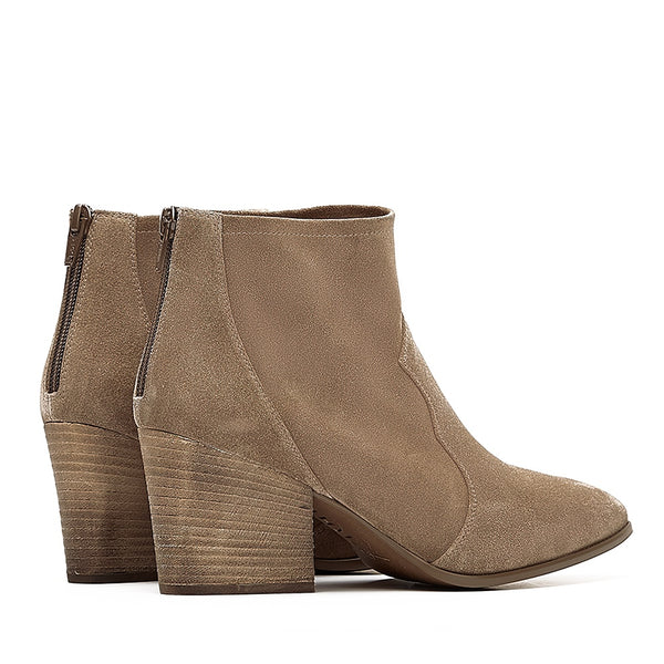 Unisa Suede Ankle boot in Light Beige