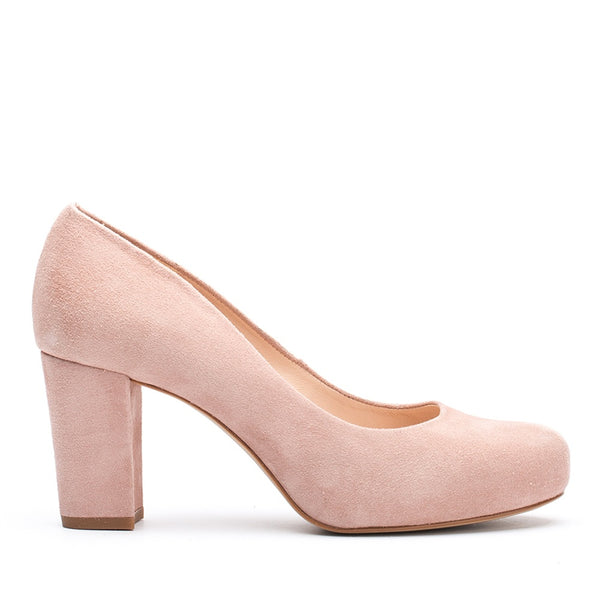 Unisa Suede High Heel in Nude