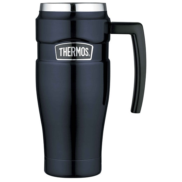 Thermos SK1000MB4AUS 470ml Stainless King Stainless Steel Vacuum Insulated Travel Mug ? Midnight Blue