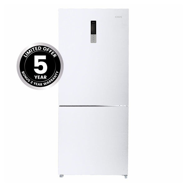 CHiQ CBM432W 432L Bottom Mounted Fridge/Inverter Technology(White)